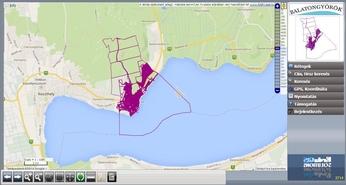 balatongyörök térkép Balatongyörök Önkormányzatának webes térinformatikai rendszere  balatongyörök térkép