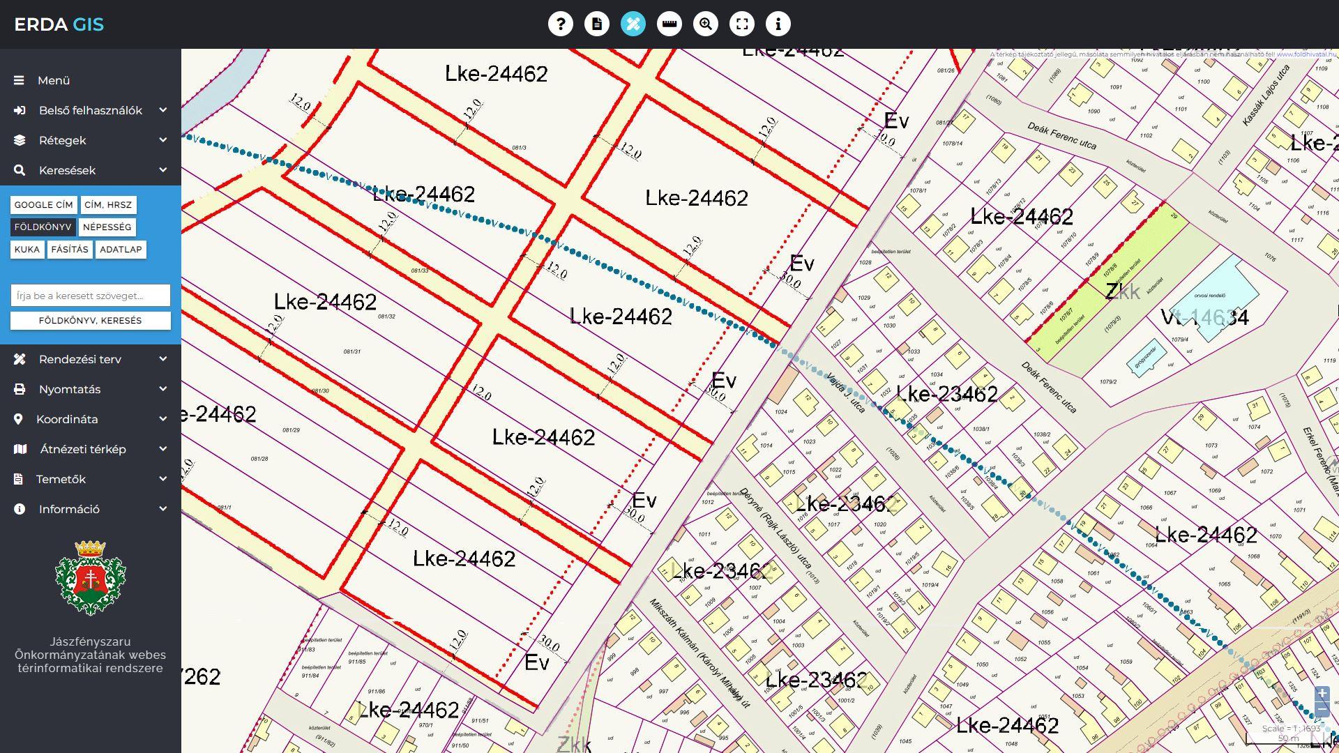 jászfényszaru térkép Jászfényszaru Önkormányzatának webes térinformatikai rendszere  jászfényszaru térkép